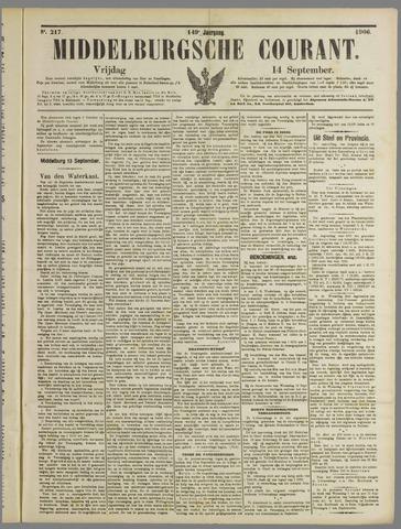Middelburgsche Courant 1906-09-14