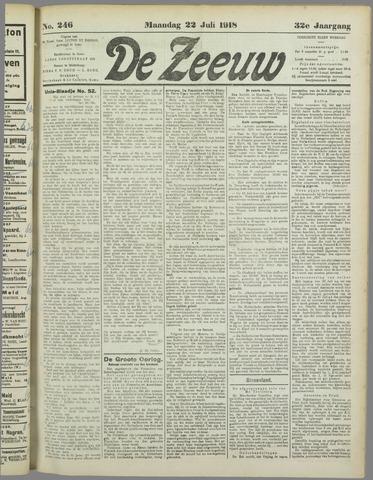 De Zeeuw. Christelijk-historisch nieuwsblad voor Zeeland 1918-07-22