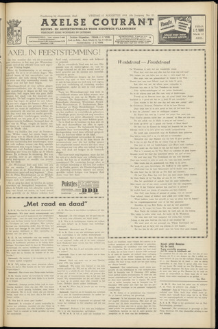 Axelsche Courant 1954-08-13