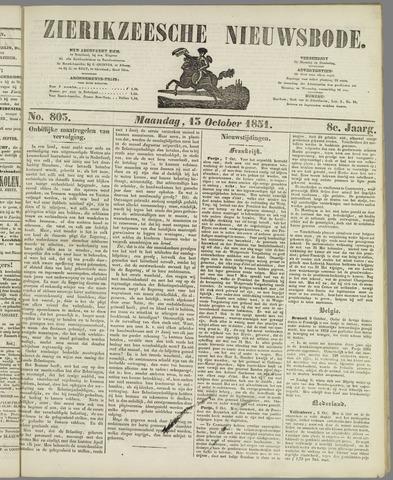 Zierikzeesche Nieuwsbode 1851-10-13