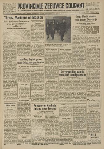 Provinciale Zeeuwse Courant 1949-02-25