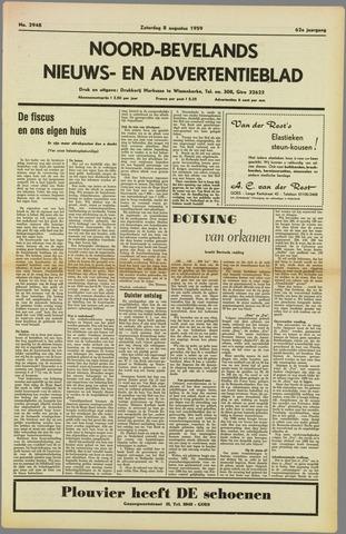Noord-Bevelands Nieuws- en advertentieblad 1959-08-08