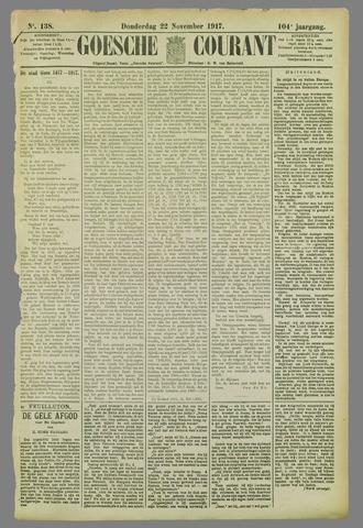 Goessche Courant 1917-11-22