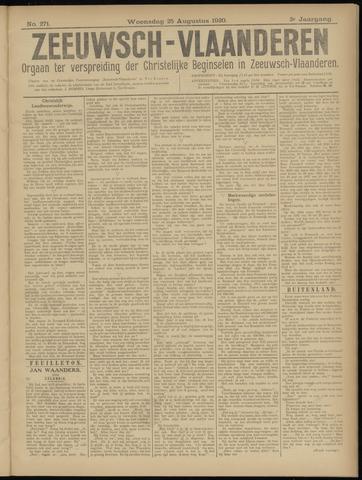 Luctor et Emergo. Antirevolutionair nieuws- en advertentieblad voor Zeeland / Zeeuwsch-Vlaanderen. Orgaan ter verspreiding van de christelijke beginselen in Zeeuwsch-Vlaanderen 1920-08-25