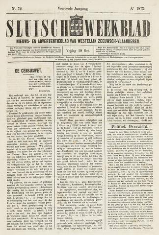 Sluisch Weekblad. Nieuws- en advertentieblad voor Westelijk Zeeuwsch-Vlaanderen 1873-10-10