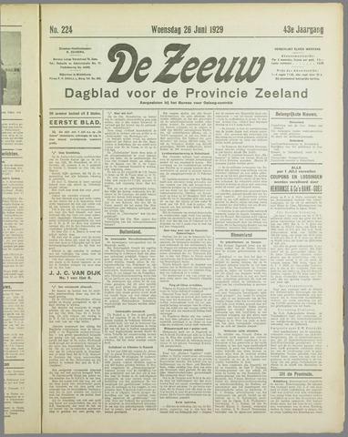 De Zeeuw. Christelijk-historisch nieuwsblad voor Zeeland 1929-06-26