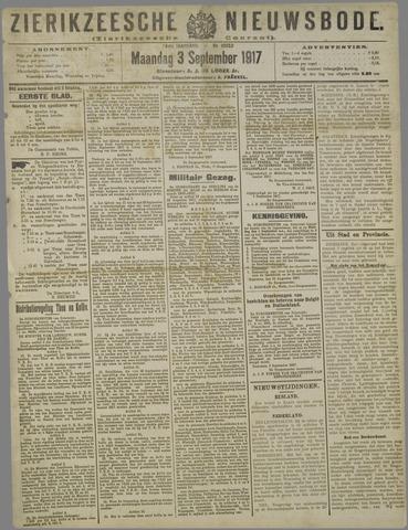Zierikzeesche Nieuwsbode 1917-09-03