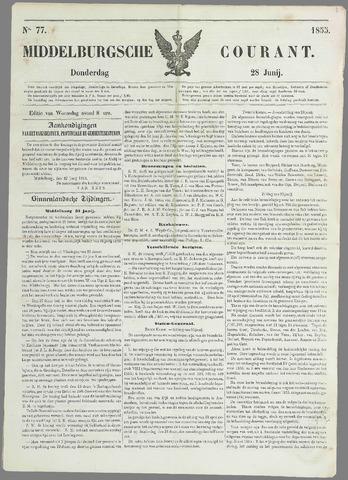 Middelburgsche Courant 1855-06-28