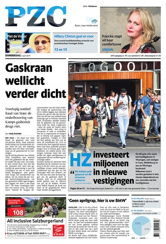 Provinciale Zeeuwse Courant 2015-04-02