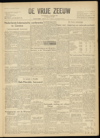 de Vrije Zeeuw 1956-01-05