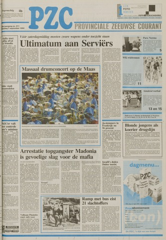 Provinciale Zeeuwse Courant 1992-09-07