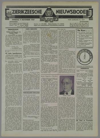 Zierikzeesche Nieuwsbode 1937-11-09