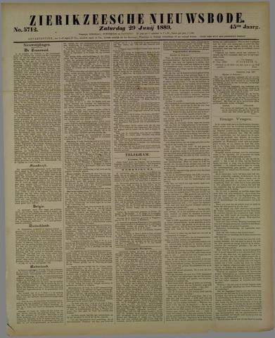 Zierikzeesche Nieuwsbode 1889-06-29