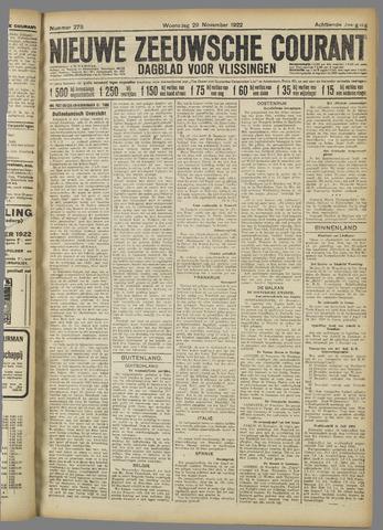 Nieuwe Zeeuwsche Courant 1922-11-29