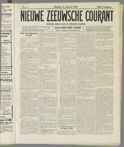 Nieuwe Zeeuwsche Courant 1909-01-12