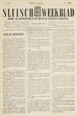 Sluisch Weekblad. Nieuws- en advertentieblad voor Westelijk Zeeuwsch-Vlaanderen 1874-12-11