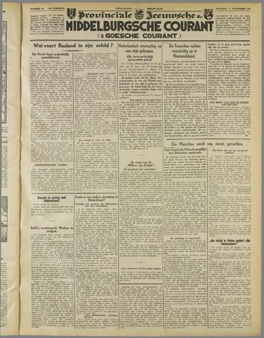 Middelburgsche Courant 1939-09-11