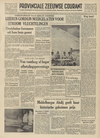 Provinciale Zeeuwse Courant 1961-08-03