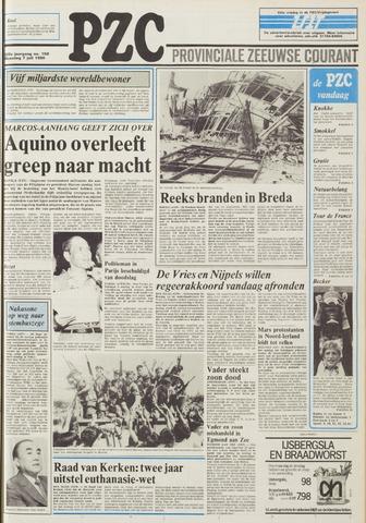 Provinciale Zeeuwse Courant 1986-07-07