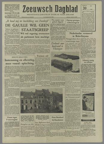 Zeeuwsch Dagblad 1958-05-20