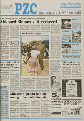 Provinciale Zeeuwse Courant 1992-11-17