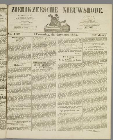Zierikzeesche Nieuwsbode 1855-08-22
