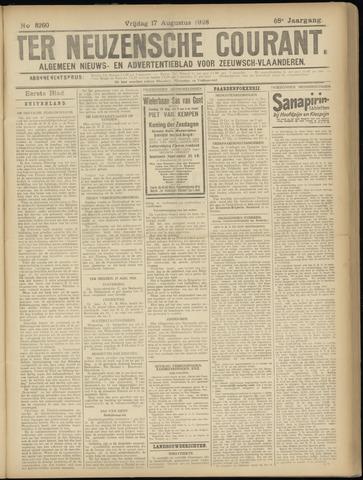 Ter Neuzensche Courant. Algemeen Nieuws- en Advertentieblad voor Zeeuwsch-Vlaanderen / Neuzensche Courant ... (idem) / (Algemeen) nieuws en advertentieblad voor Zeeuwsch-Vlaanderen 1928-08-17