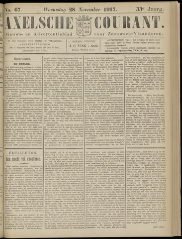 Axelsche Courant 1917-11-28
