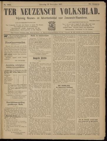 Ter Neuzensch Volksblad. Vrijzinnig nieuws- en advertentieblad voor Zeeuwsch- Vlaanderen / Zeeuwsch Nieuwsblad. Nieuws- en advertentieblad voor Zeeland 1917-12-29