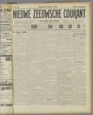 Nieuwe Zeeuwsche Courant 1914-10-13