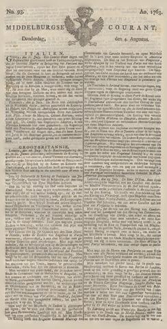 Middelburgsche Courant 1763-08-04