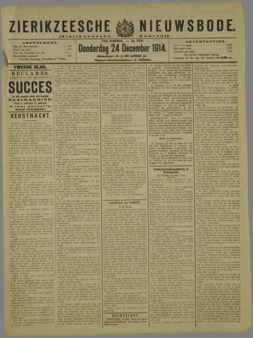 Zierikzeesche Nieuwsbode 1914-12-24