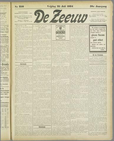 De Zeeuw. Christelijk-historisch nieuwsblad voor Zeeland 1924-07-25