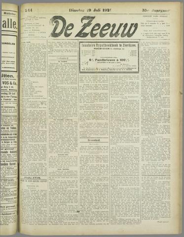De Zeeuw. Christelijk-historisch nieuwsblad voor Zeeland 1921-07-19