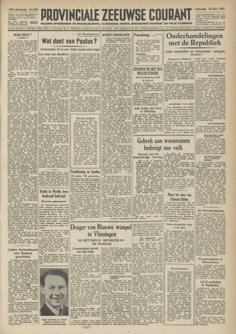 Provinciale Zeeuwse Courant 1947-10-25