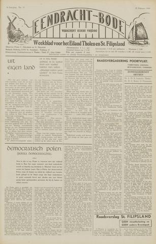 Eendrachtbode (1945-heden)/Mededeelingenblad voor het eiland Tholen (1944/45) 1949-02-25