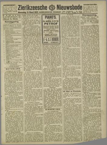 Zierikzeesche Nieuwsbode 1922-03-15