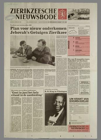 Zierikzeesche Nieuwsbode 1996-02-02