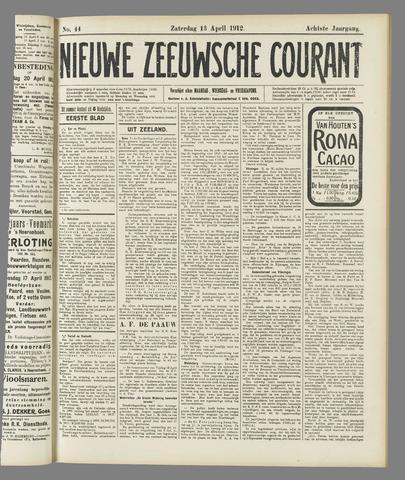 Nieuwe Zeeuwsche Courant 1912-04-13