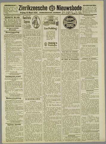 Zierikzeesche Nieuwsbode 1924-03-14