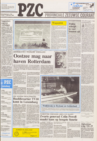 Provinciale Zeeuwse Courant 1989-08-11