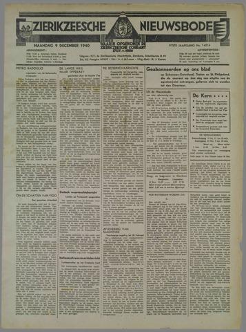 Zierikzeesche Nieuwsbode 1940-12-09