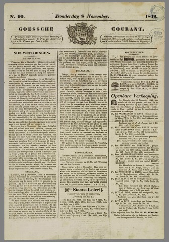 Goessche Courant 1849-11-08