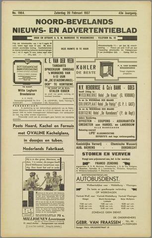 Noord-Bevelands Nieuws- en advertentieblad 1937-02-20
