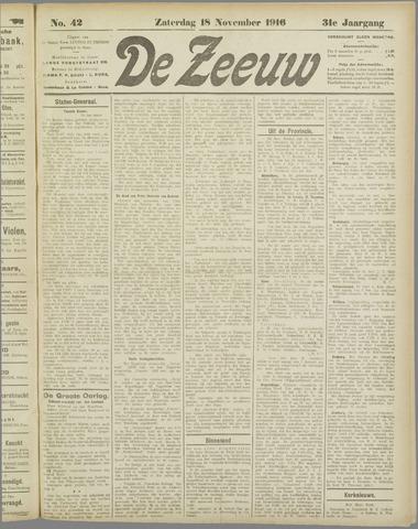 De Zeeuw. Christelijk-historisch nieuwsblad voor Zeeland 1916-11-18