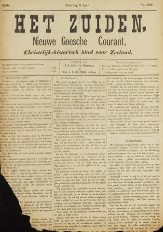 Het Zuiden, Christelijk-historisch blad 1886-04-03