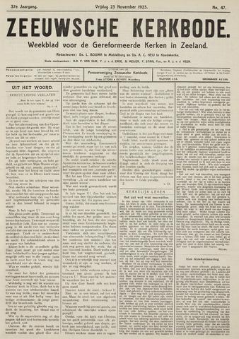 Zeeuwsche kerkbode, weekblad gewijd aan de belangen der gereformeerde kerken/ Zeeuwsch kerkblad 1923-11-23
