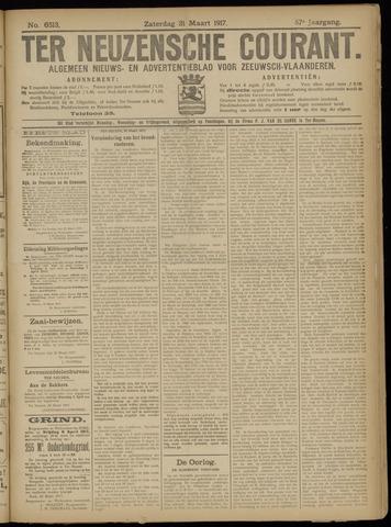 Ter Neuzensche Courant. Algemeen Nieuws- en Advertentieblad voor Zeeuwsch-Vlaanderen / Neuzensche Courant ... (idem) / (Algemeen) nieuws en advertentieblad voor Zeeuwsch-Vlaanderen 1917-03-31