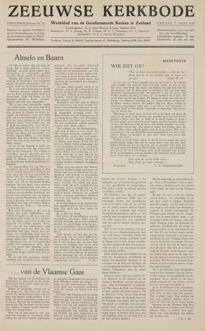 Zeeuwsche kerkbode, weekblad gewijd aan de belangen der gereformeerde kerken/ Zeeuwsch kerkblad 1959-06-05