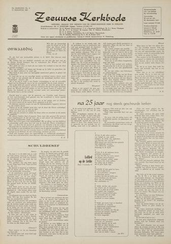 Zeeuwsche kerkbode, weekblad gewijd aan de belangen der gereformeerde kerken/ Zeeuwsch kerkblad 1969-08-14